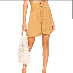NWT Free people Brittany Long Beach shorts gold S